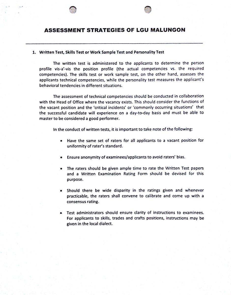 Writing civil service competencies